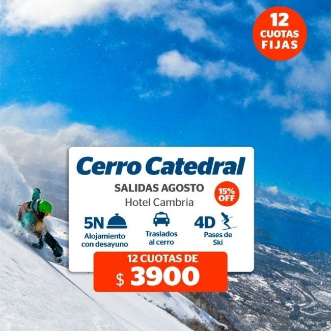 Sky en Cerro Catedal - 15% off